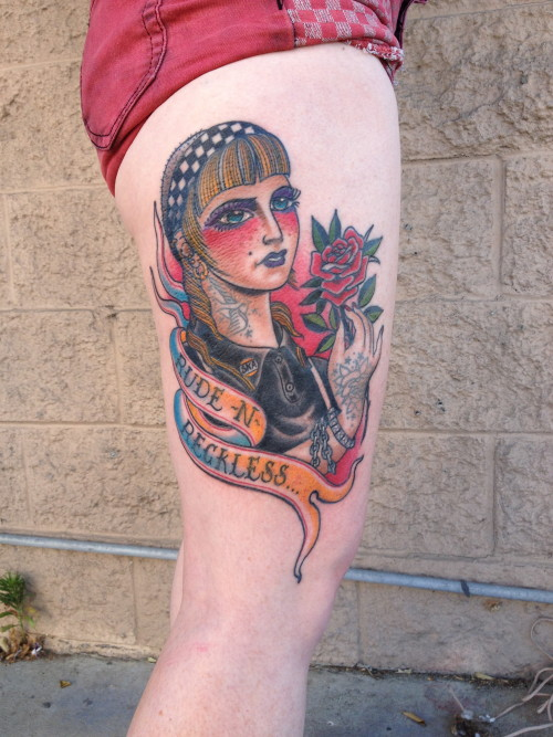 skinhead rude girl tattoo