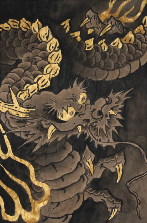 japanese dragon painting